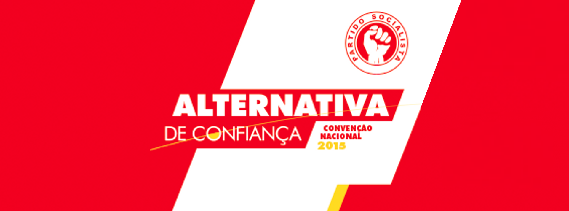 Capa - Convenção Nacional do PS - Alternativa de Confiança